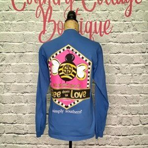 Simply Southern Bee Done in Love Long Sleeve Shirt